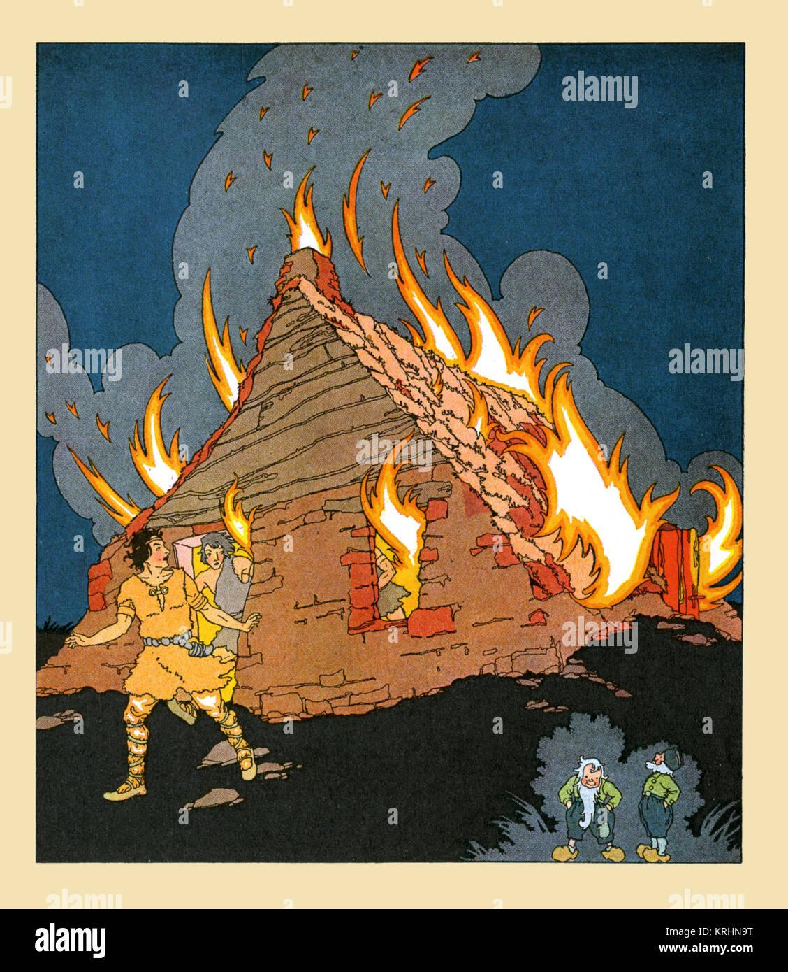 Burning House - Stock Image