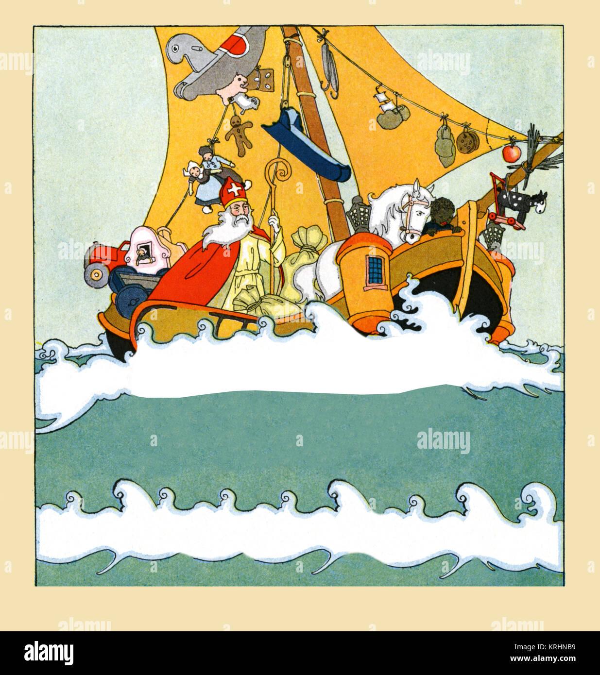 Saint Nicolas' Boat - Stock Image