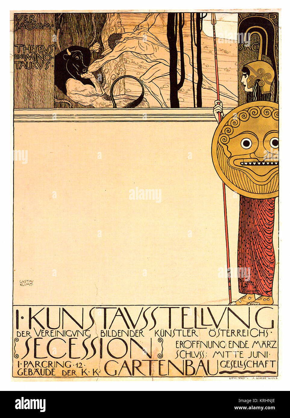 Vienna Secession, First Exhibition, poster - Stock Image