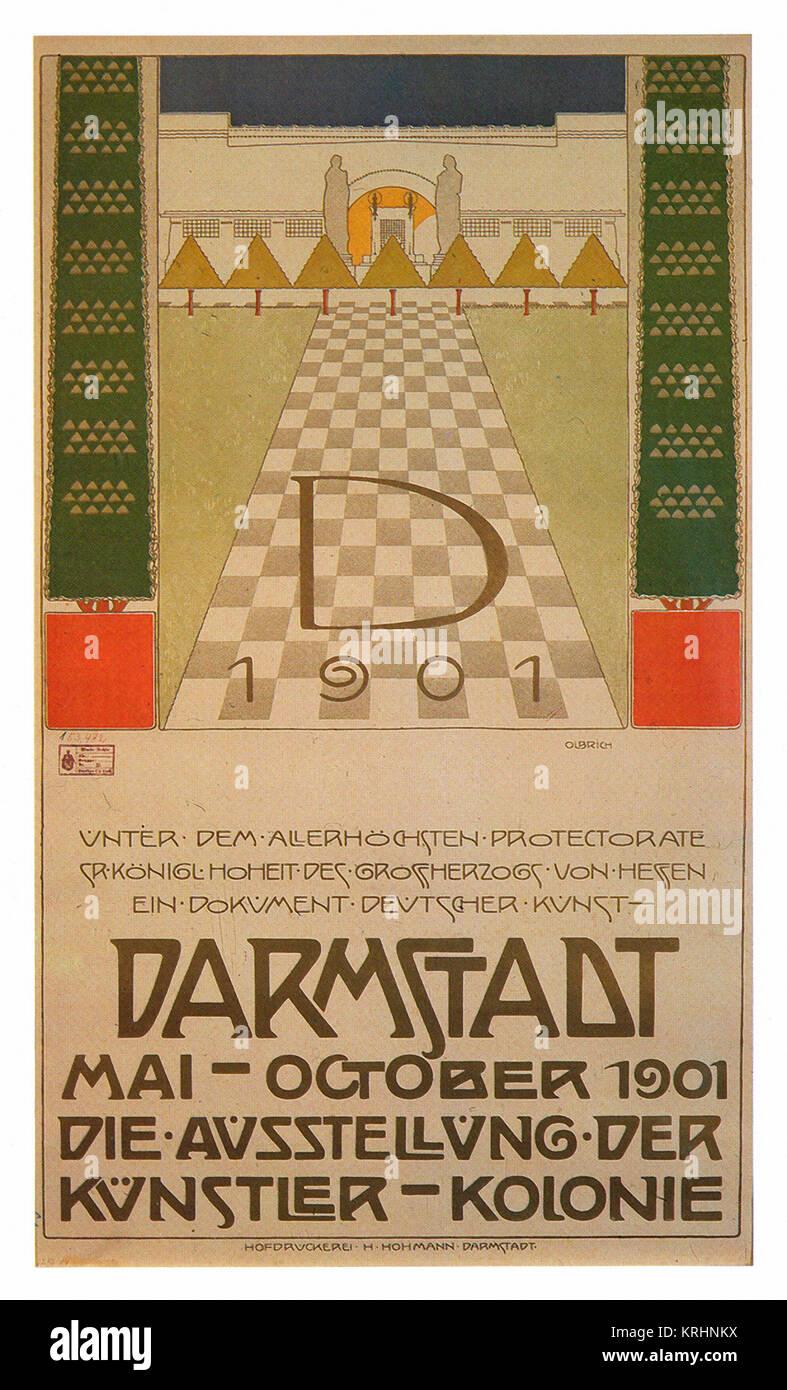 Darmstadt Exhibition of German Arts - Stock Image