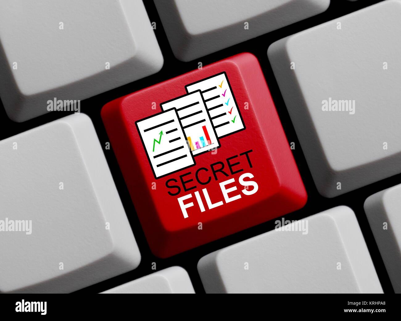 secret files online - Stock Image