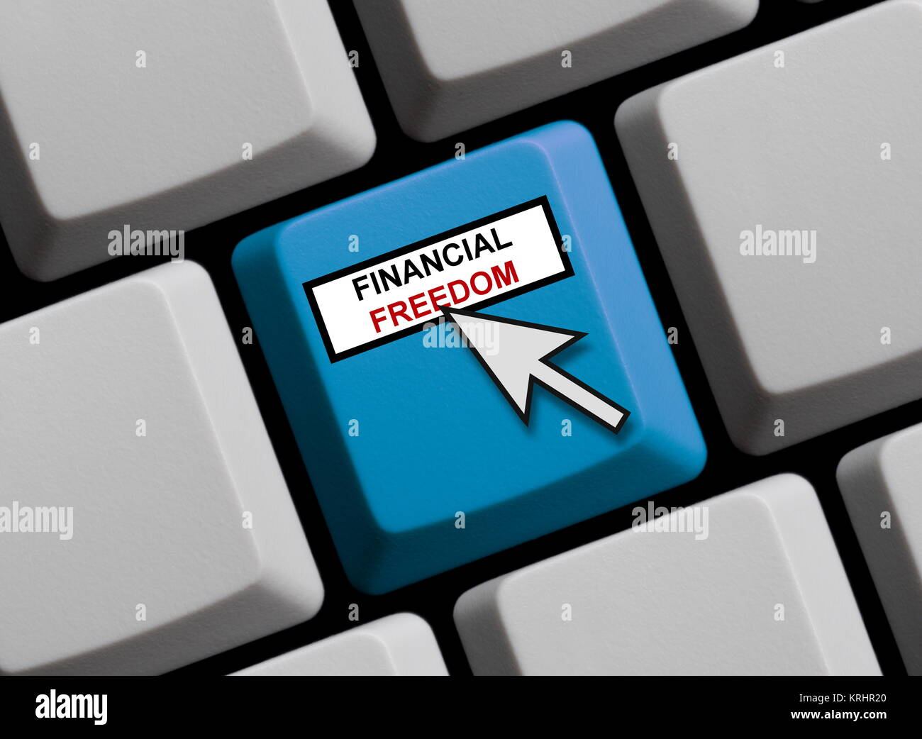 financial freedom online - Stock Image