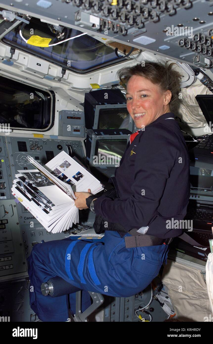 NASA Space Shuttle Discovery International Space Station STS-121 mission prime crew member American astronaut Lisa Stock Photo