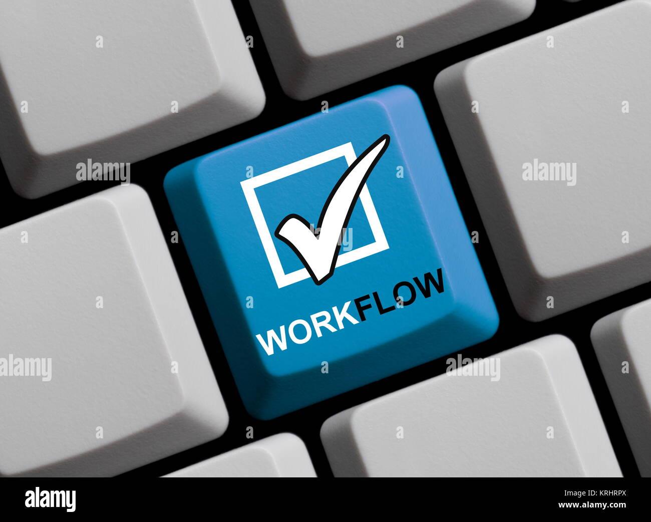 keyboard workflow - Stock Image