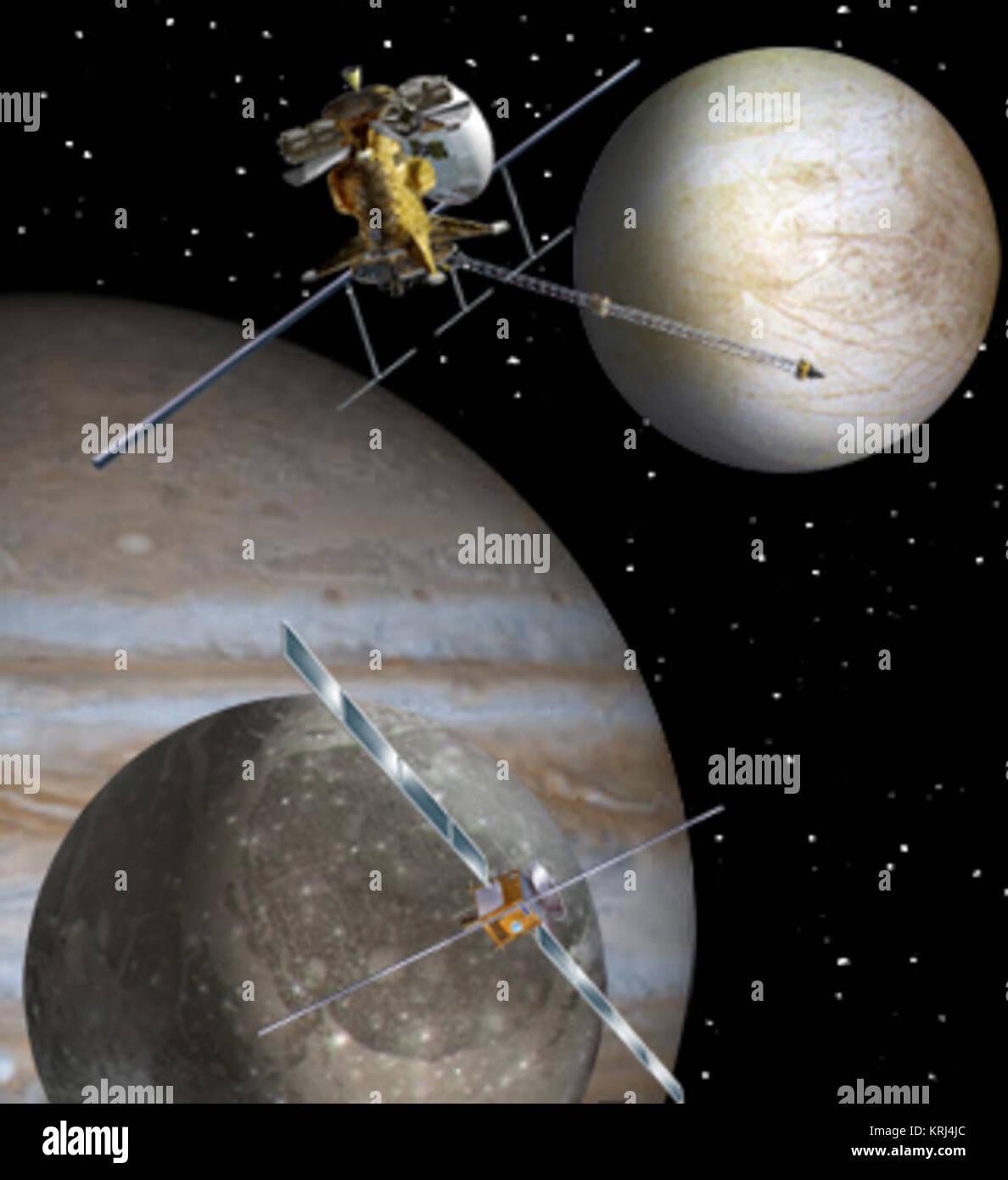 Europa Jupiter System Mission artist concept - Stock Image