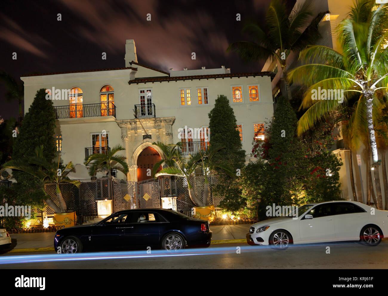 Casa Casuarina, former home of fashion designer Gianni Versace, Miami Beach, Florida, USA - Stock Image