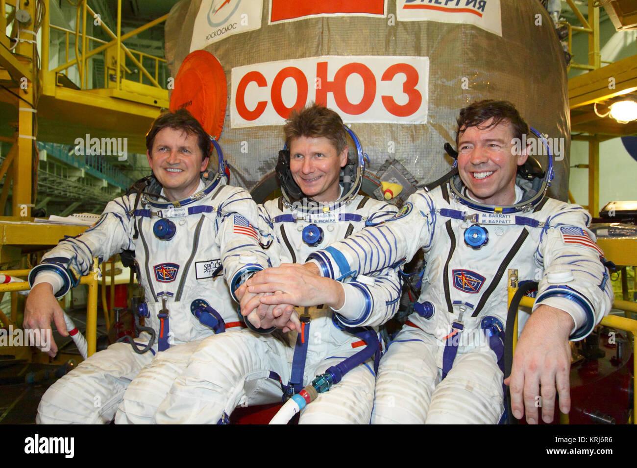 Soyuz-TMA-14-Crew-Photo - Stock Image