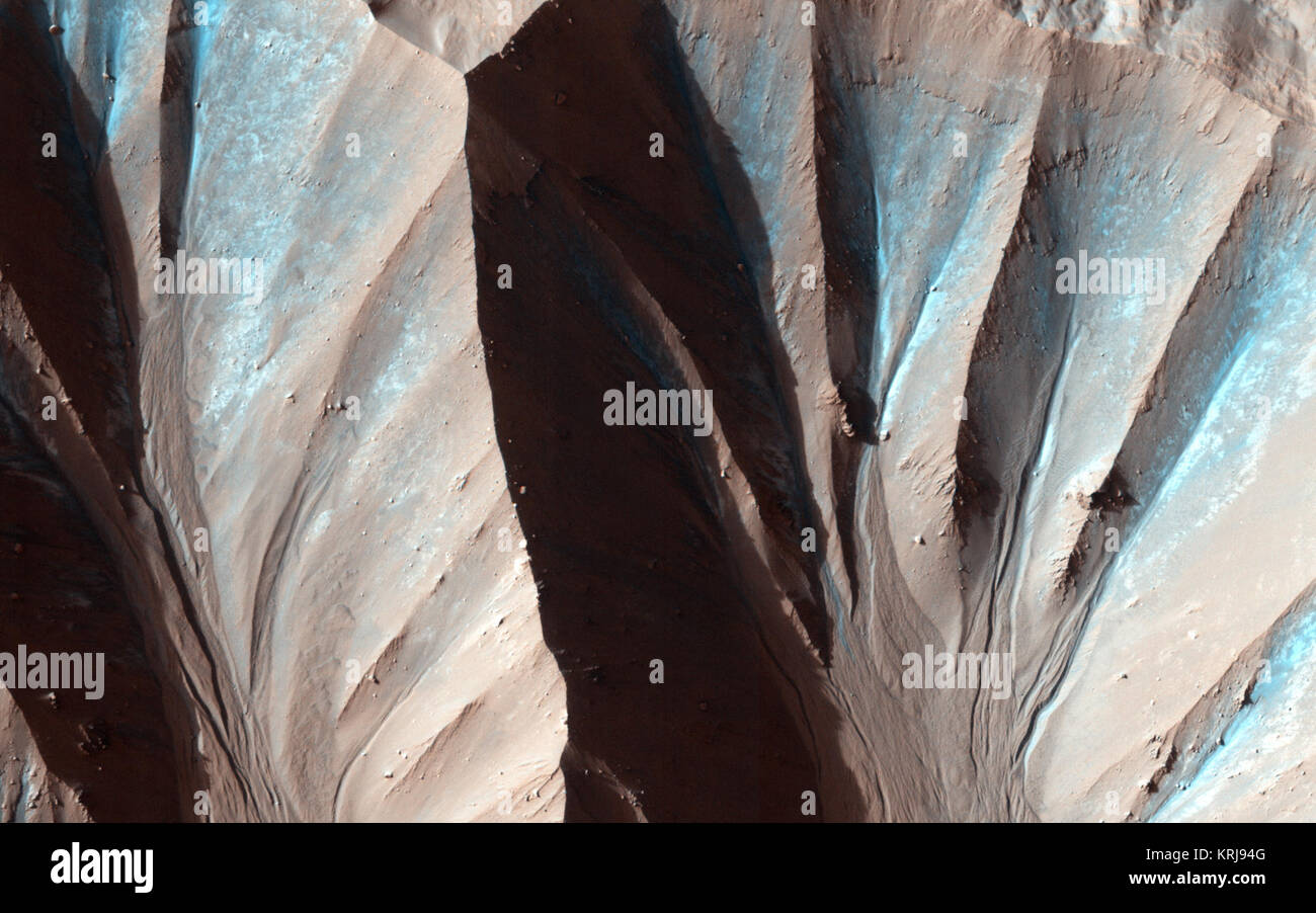 Recent Gully Activity in Gasa Crater, Mars - Stock Image
