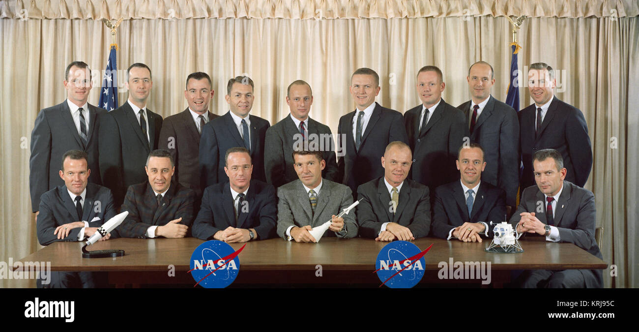 S63-01419 (1963) --- The first two groups of astronauts selected by the National Aeronautics and Space Administration Stock Photo