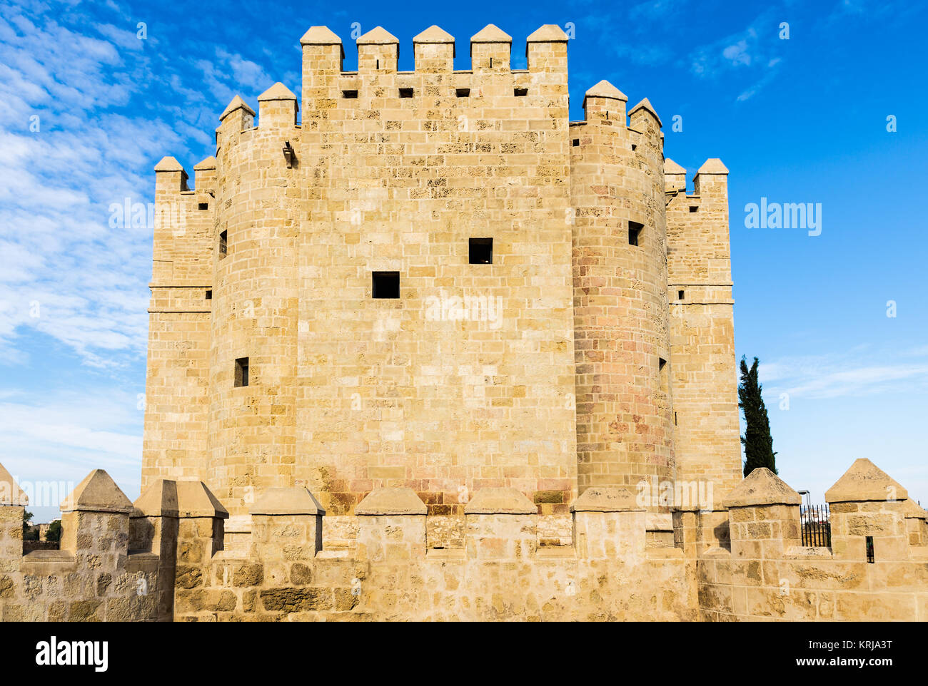 The Calahorra Tower (Spanish: Torre de la Calahorra) is a fortified gate in the Historic centre of Córdoba, - Stock Image