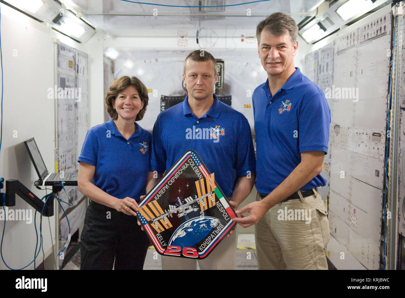 PHOTO DATE: 16 July 2010, LOCATION: Bldg. 9NW, SVMTF - ISS Mockups, SUBJECT: Joint STS-134, Expedition 25 and Expedition - Stock Image