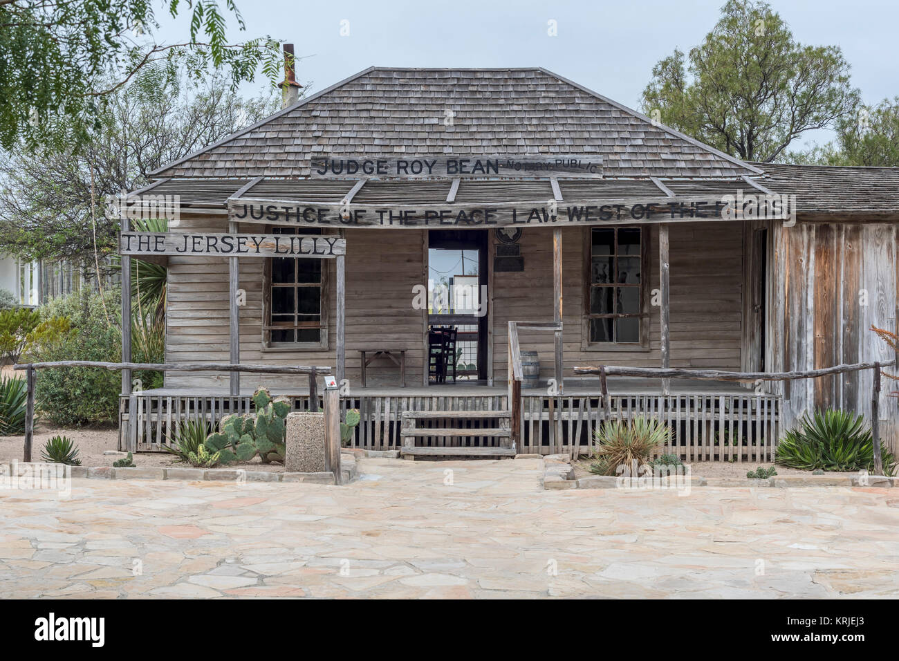 Langtry, Texas - The 'Jersey Lilly,' Judge Roy Bean's combination saloon and courtroom during the late - Stock Image