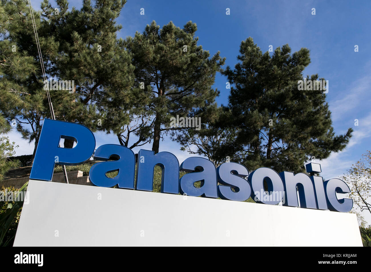 A logo sign outside of the headquarters of the Panasonic Avionics Corporation in Lake Forest, California on December - Stock Image