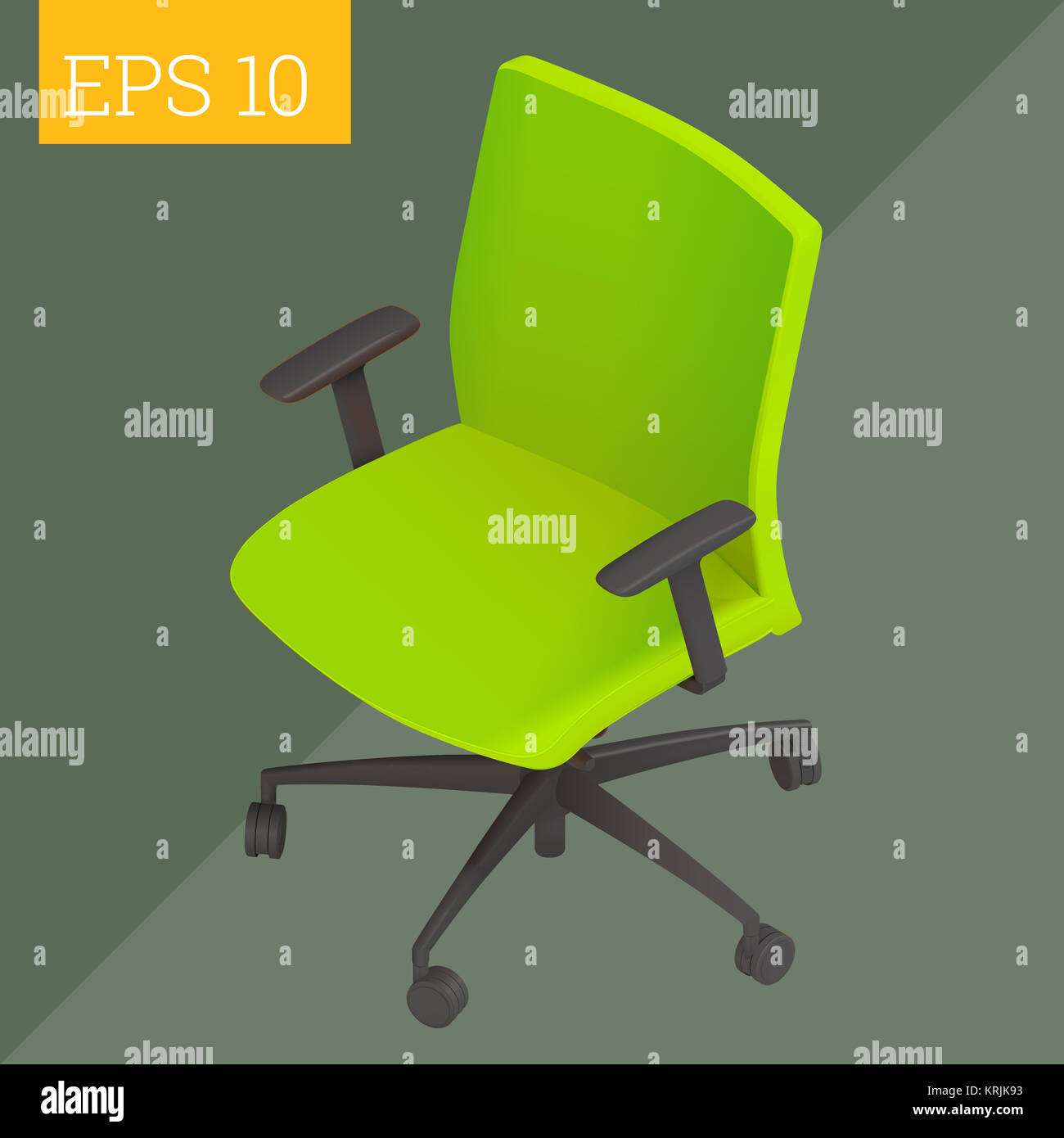 computer chair isometric vector illustration - Stock Image