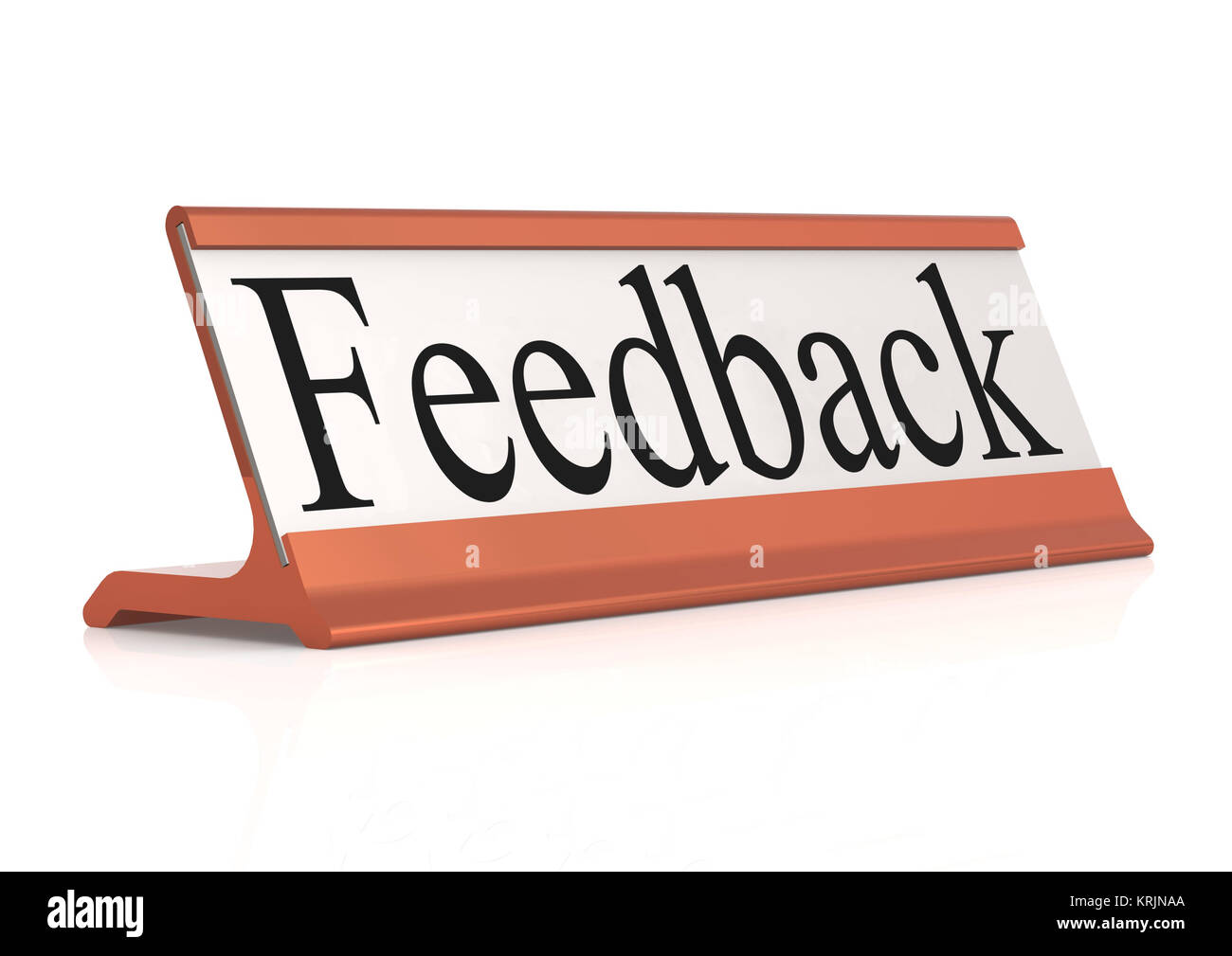 Feedback table tag isolated - Stock Image
