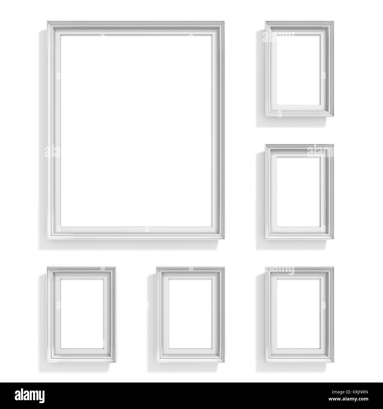 Blank picture frames. Website background template. Composition set - Stock Image