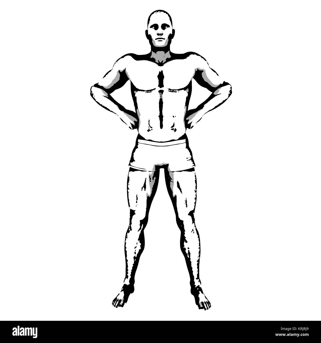 Comic Book Hero Pose - Stock Image