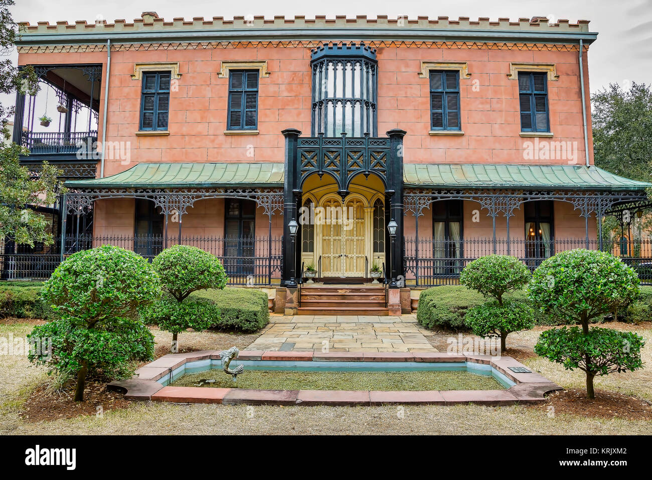 The Green Meldrim House in Savannah, Georgia - Stock Image