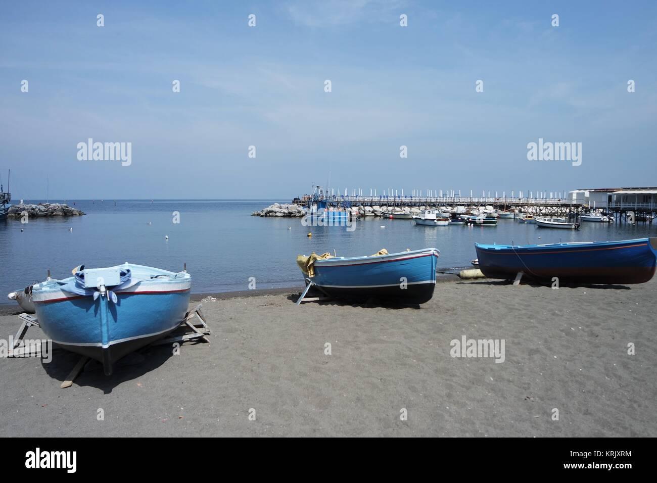 fishing boats in the marina grande in sorrento Stock Photo