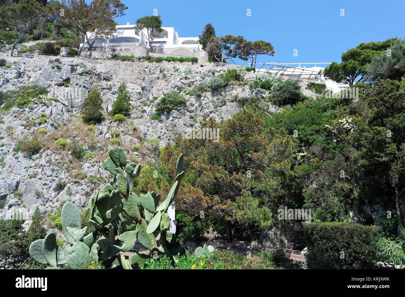 cliffs of capri - Stock Image