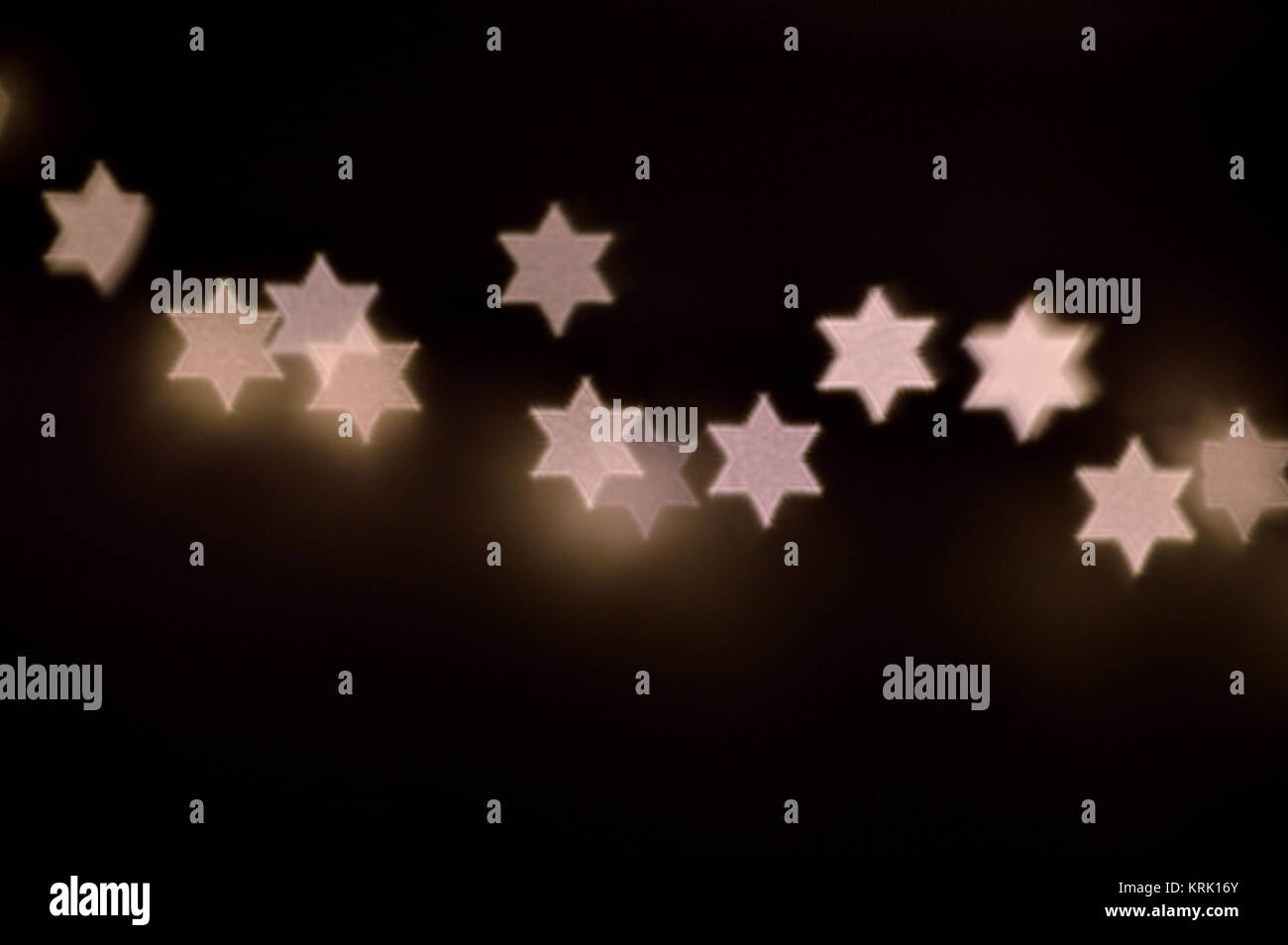 Star of David lights for Hanukkah Stock Photo
