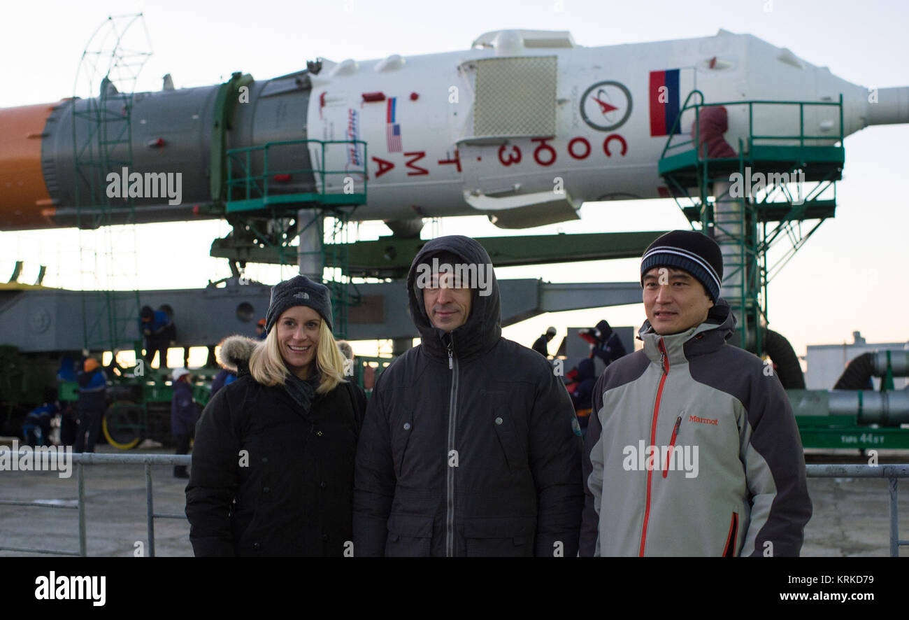 Expedition 46 backup crew members Kathleen Rubins of NASA, left, Anatoli Ivanishin of the Russian Federal Space - Stock Image