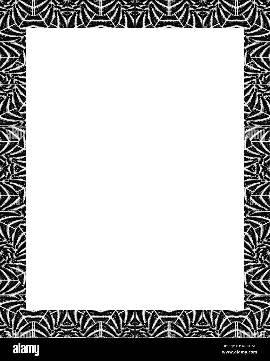 Borders Frames Design Black And White Stock Photos Images Alamy