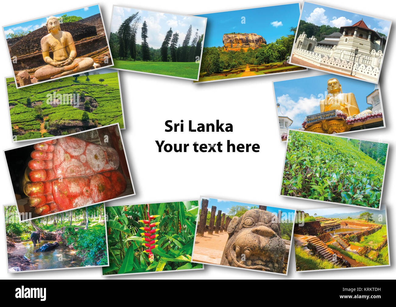 Collage from images of Sri Lanka Stock Photo