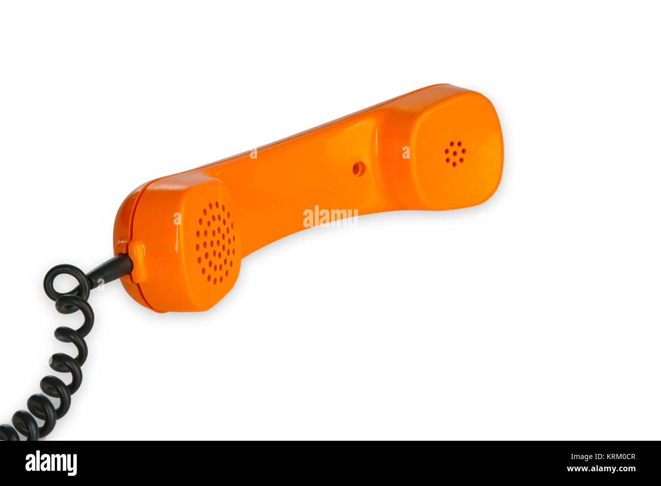 retro telefonhoerer - Stock Image