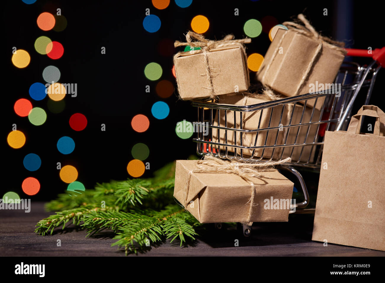 Christmas and New Year shopping. - Stock Image