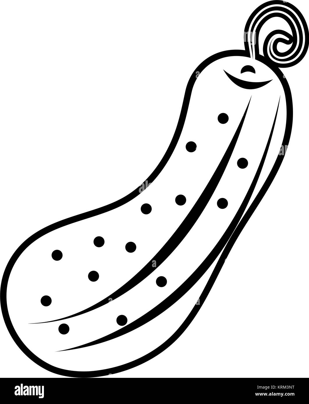 Pickle vegetable isolated - Stock Vector