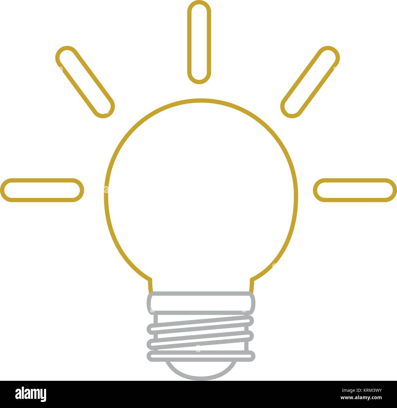 Light bulb design - Stock Vector