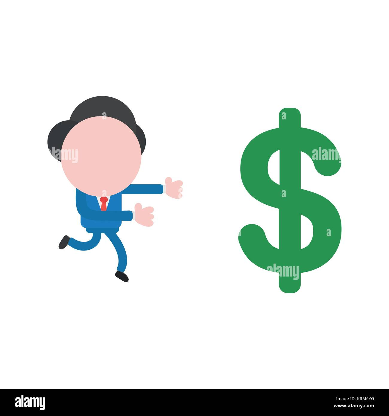 Cartoon Illustration Coin Money Payment Cut Out Stock Images