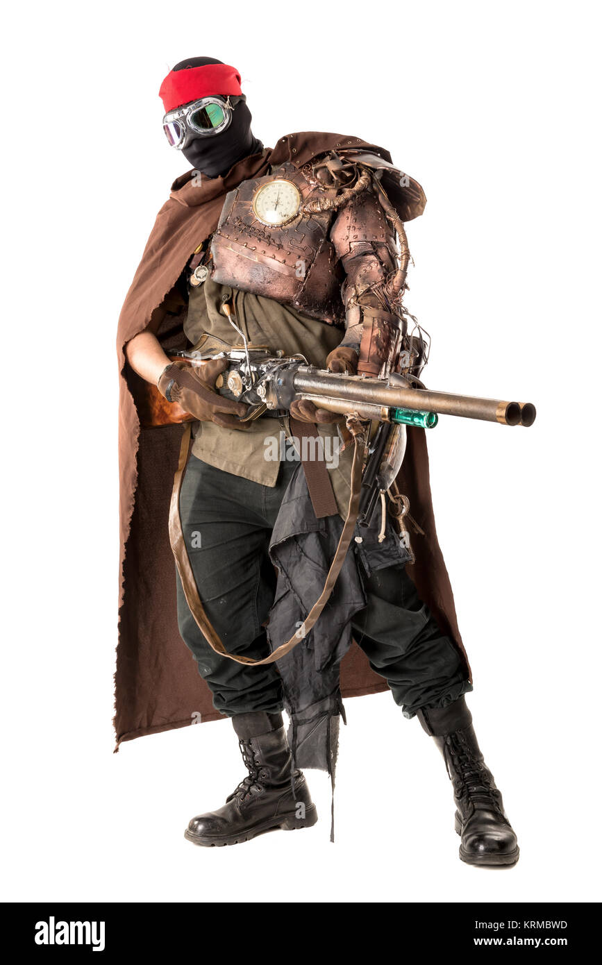 futuristic warrior - Stock Image