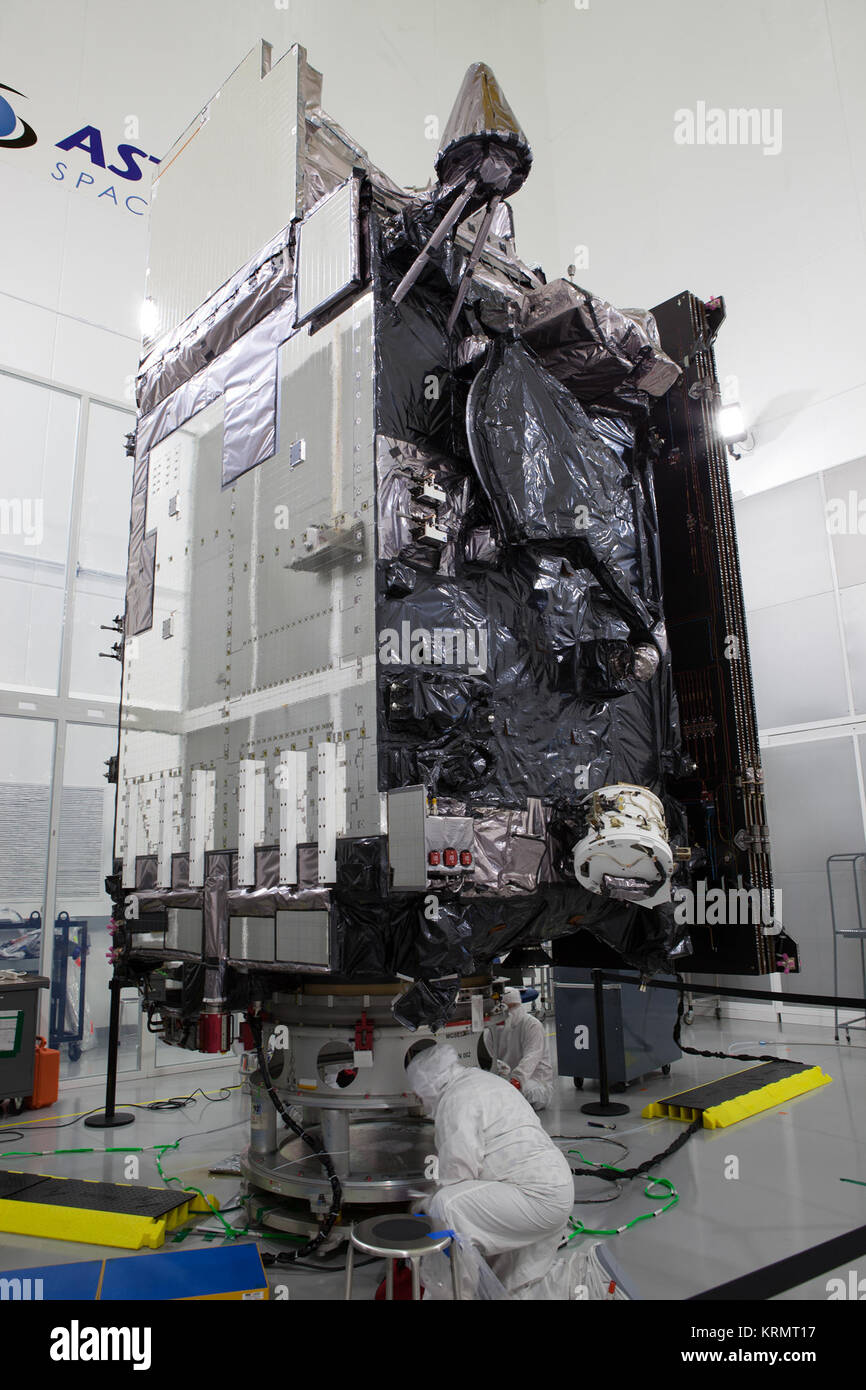 The Geostationary Operational Environmental Satellite (GOES-R) is undergoing final launch preparations prior to - Stock Image