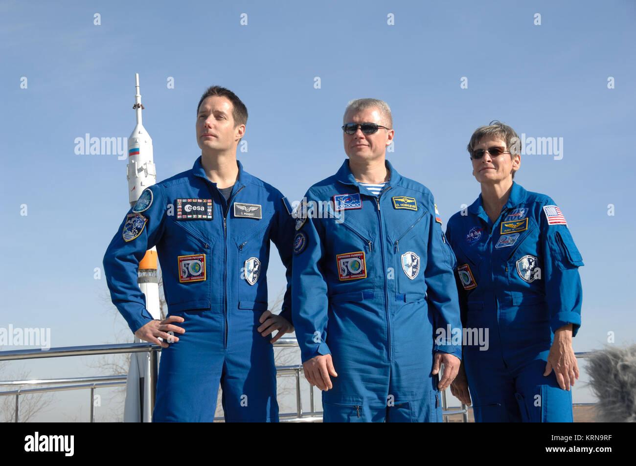 Soyuz MS-03 prime crew - Stock Image
