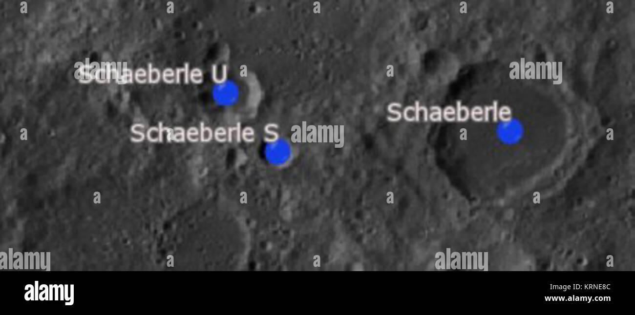 SchaeberleCraterSAT - Stock Image