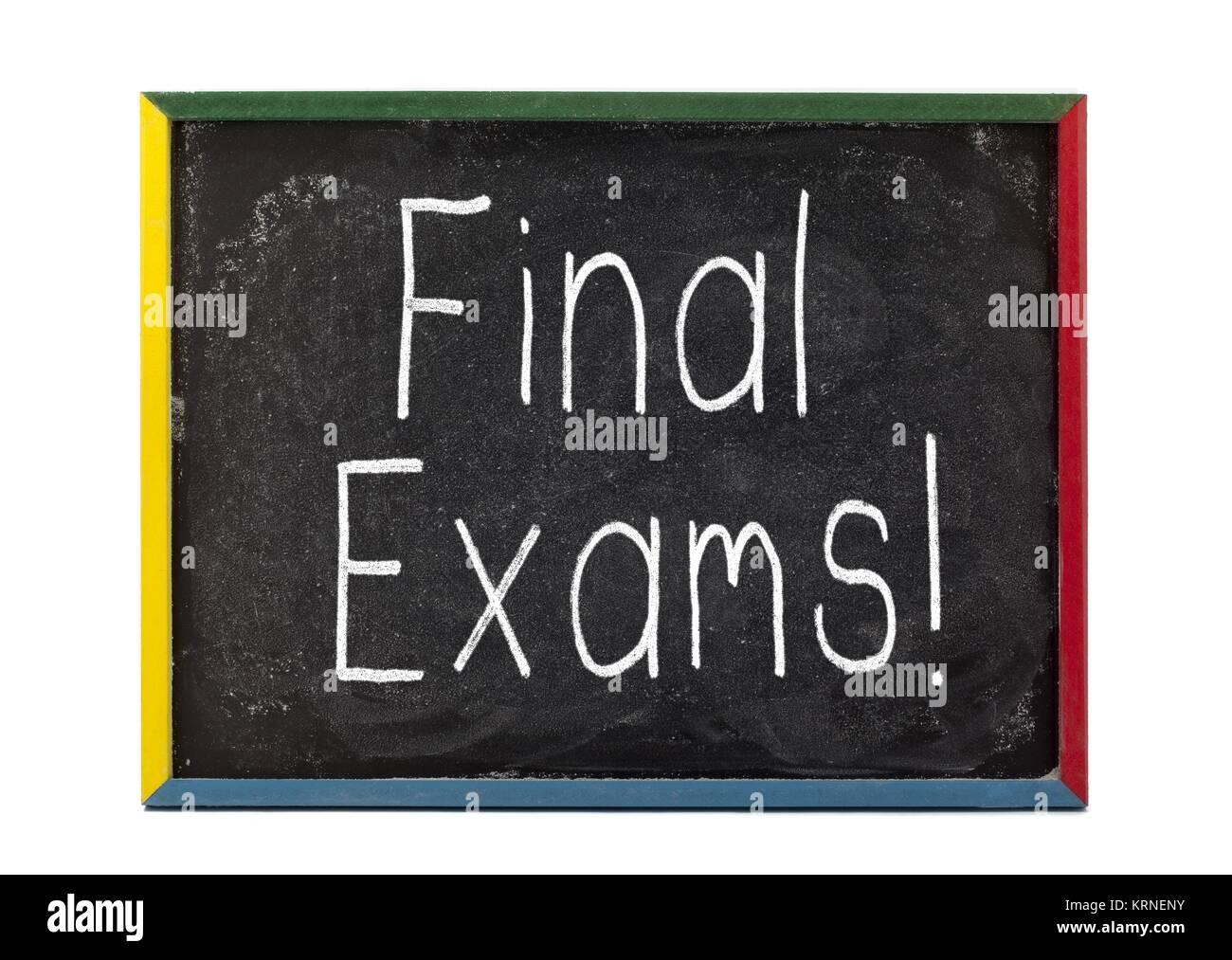 final exams! - Stock Image