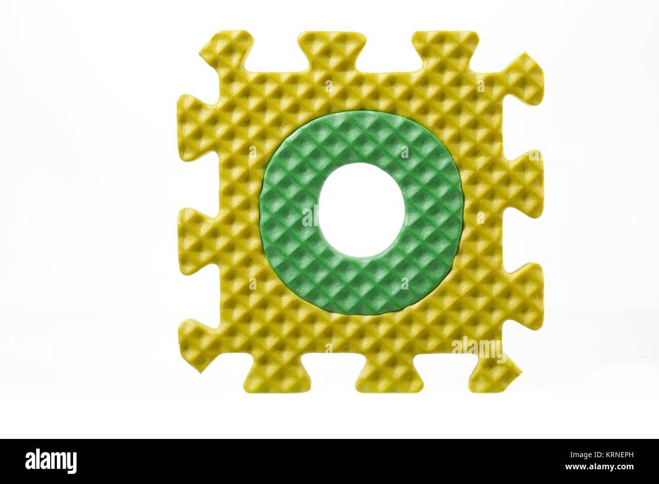 Foam Alphabet Puzzle On Letter O Stock Photo 169503001 Alamy