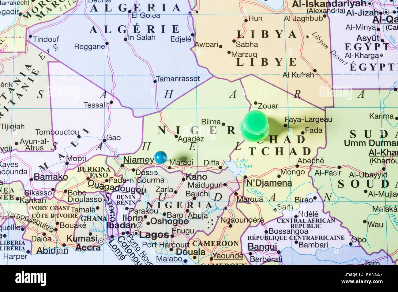 niger map with green push pin Stock Photo 169504111 Alamy