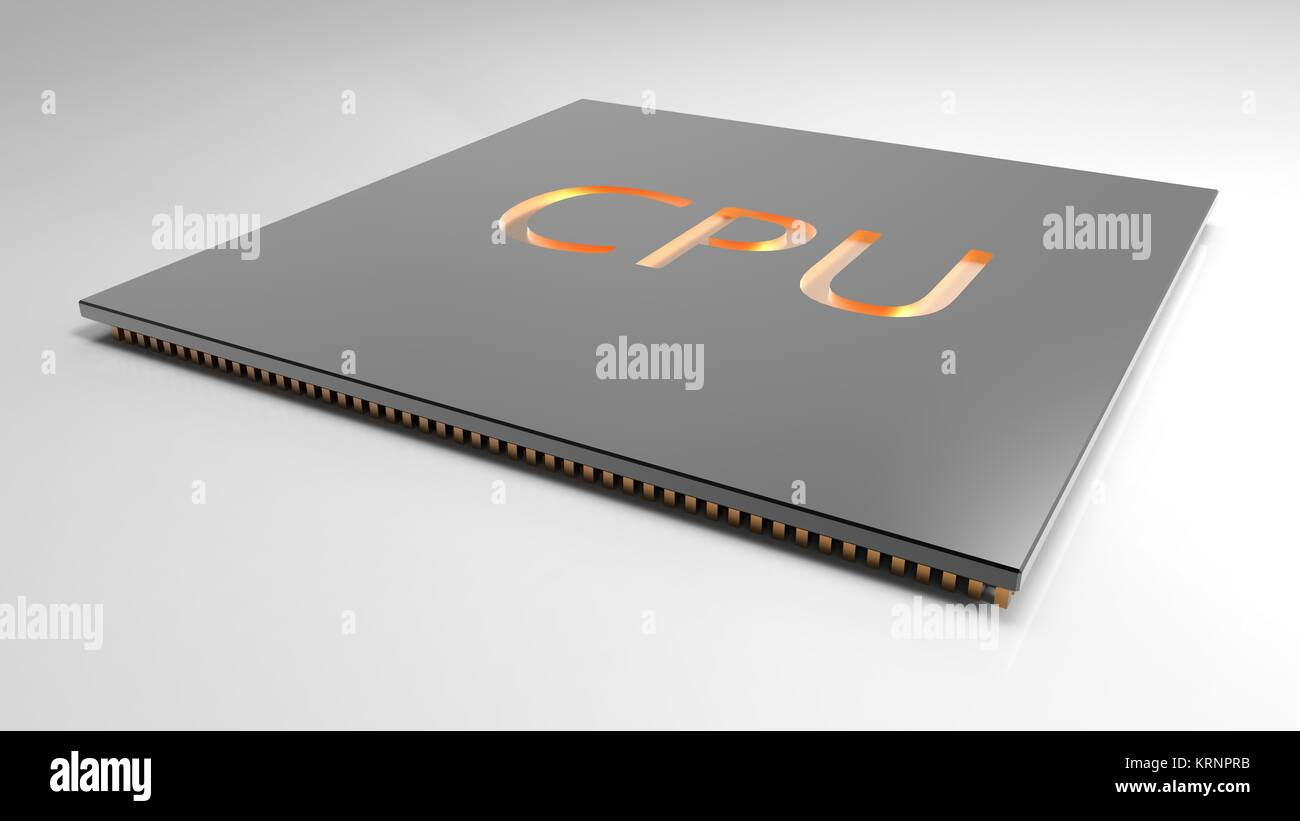 3d render Central Computer Processors CPU concept. technology background. High resolution - Stock Image