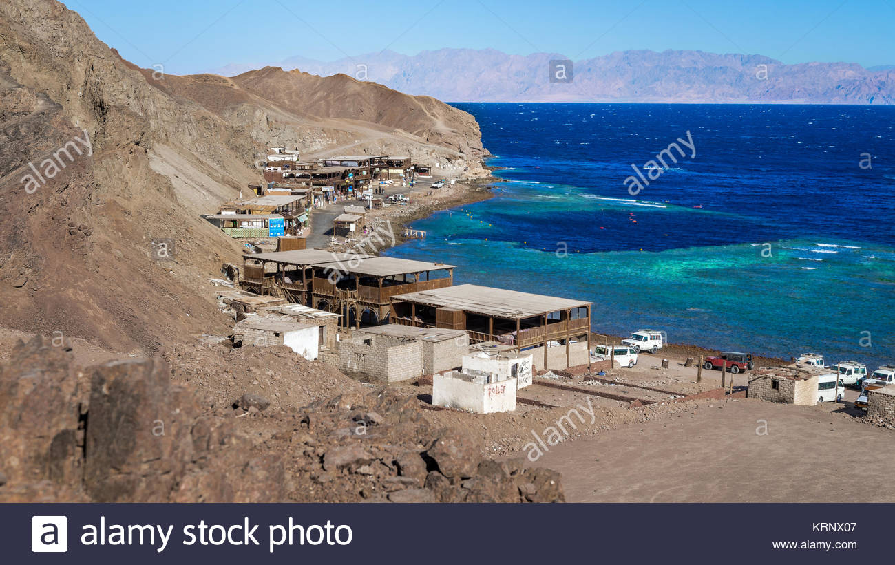 The Blue Hole diving site, Dahab, Egypt - Stock Image