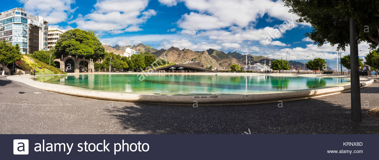 The Plaza de España in Santa Cruz de Tenerife, Canary Islands, Spain - Stock Image