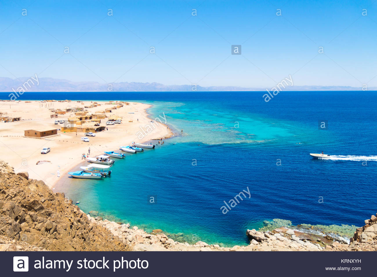 Ras Abu Galum near Dahab city, South Sinai, Egypt - Stock Image