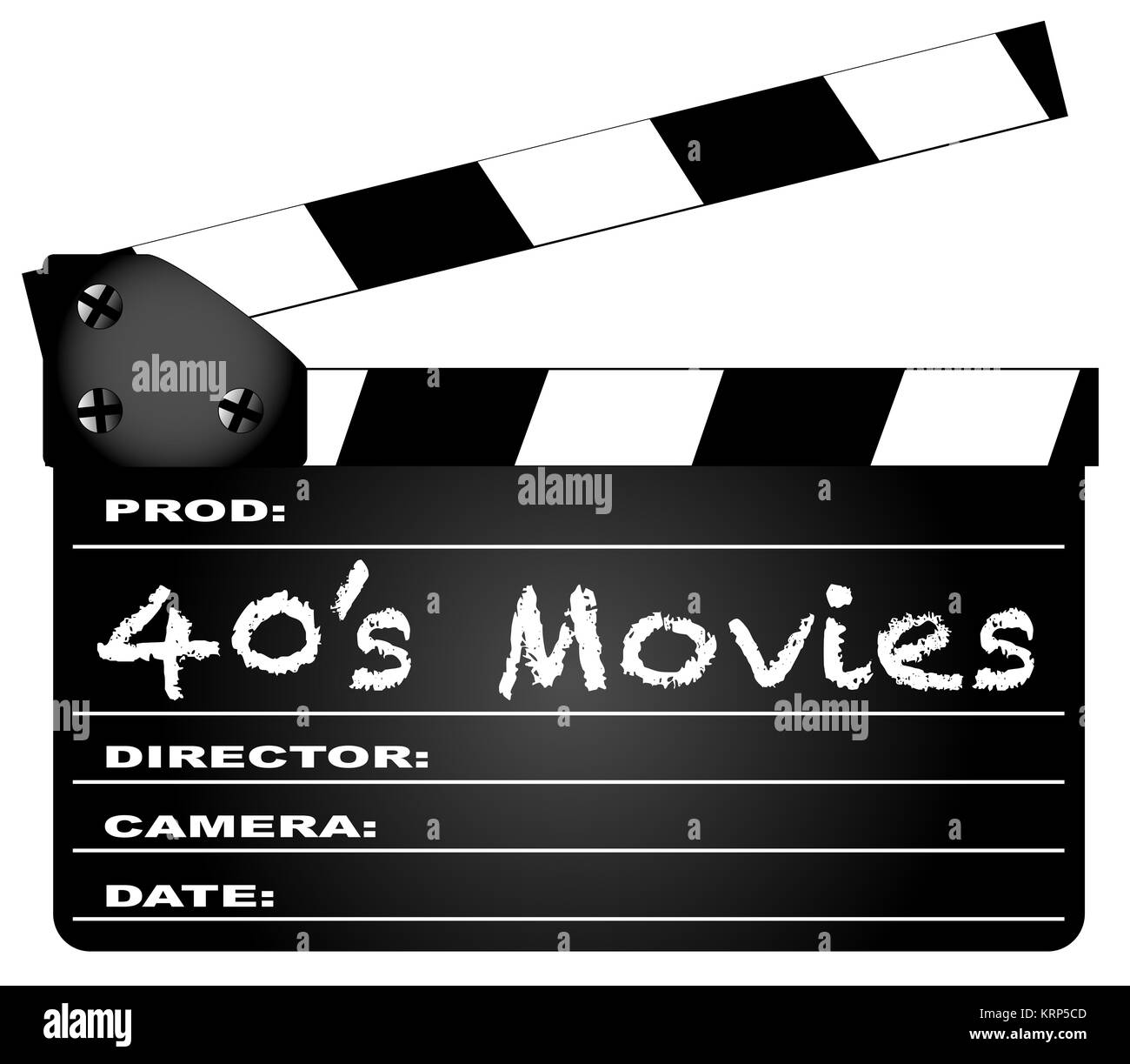 40's Movies Clapperboard - Stock Image