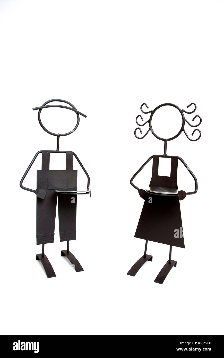 Maenner- und Frauenfigur - man and woman - Stock Image