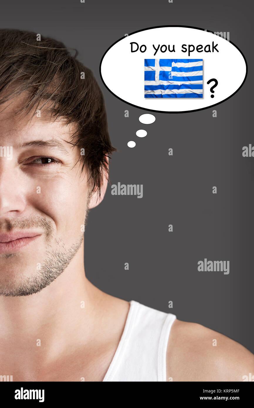 Do you speak Greek? - Stock Image