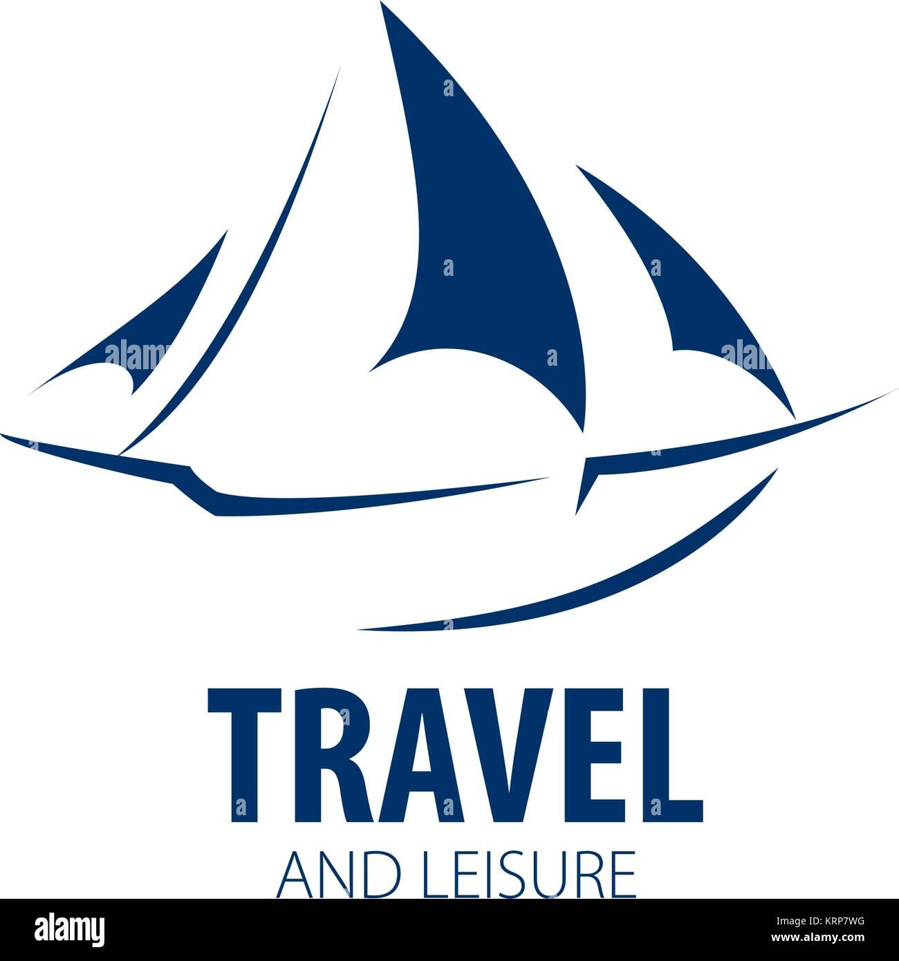 vector logo Yacht - Stock Image