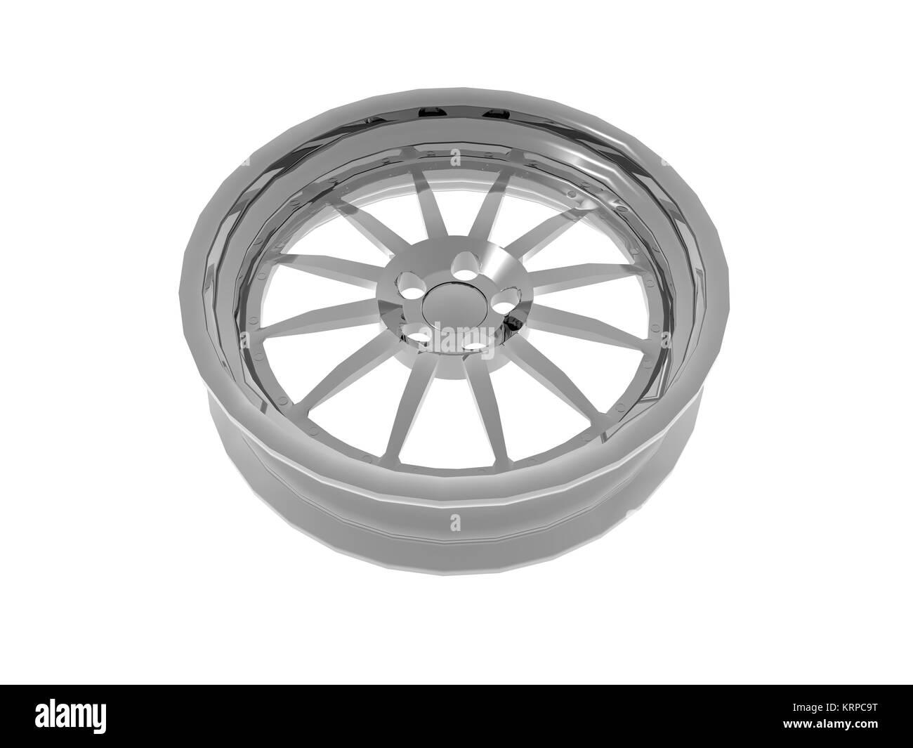 aluminum rims free - Stock Image