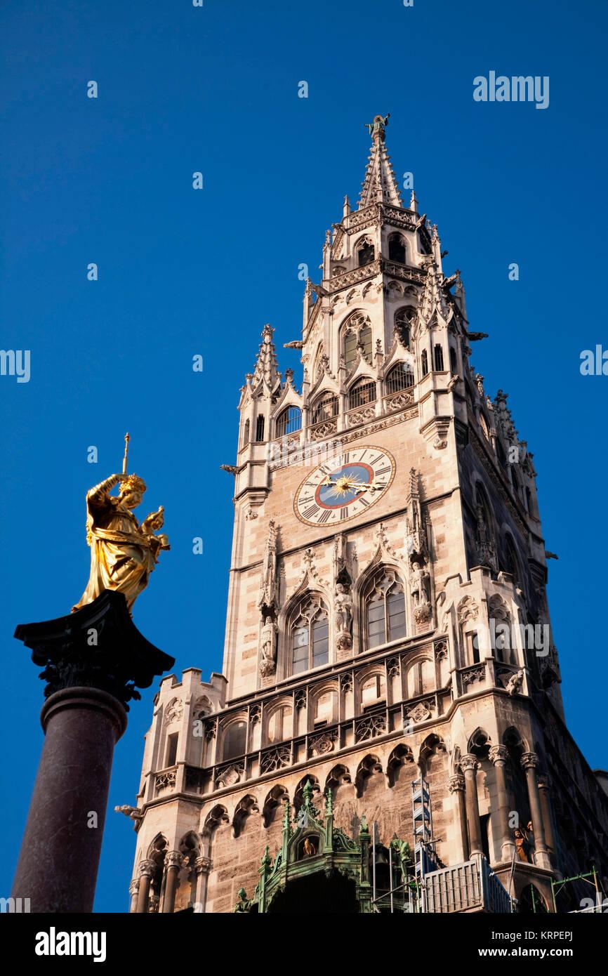 Marienplatz, New Town Hall  Munich , Germany - Stock Image